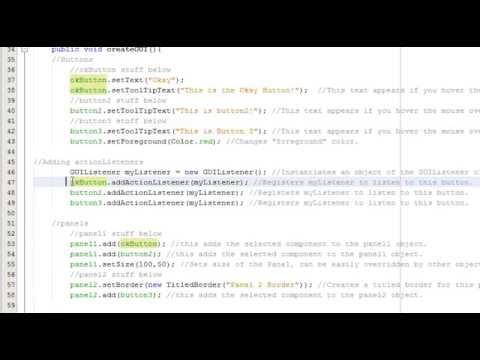 Java GUI Basics: JFrame, JButton, JPanels, ActionListeners in Netbeans Tutorial