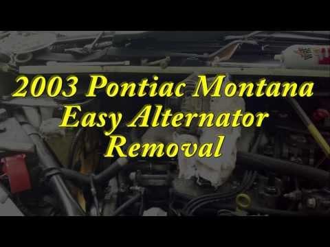 Pontiac Montana 2003 - Easier Alternator Removal