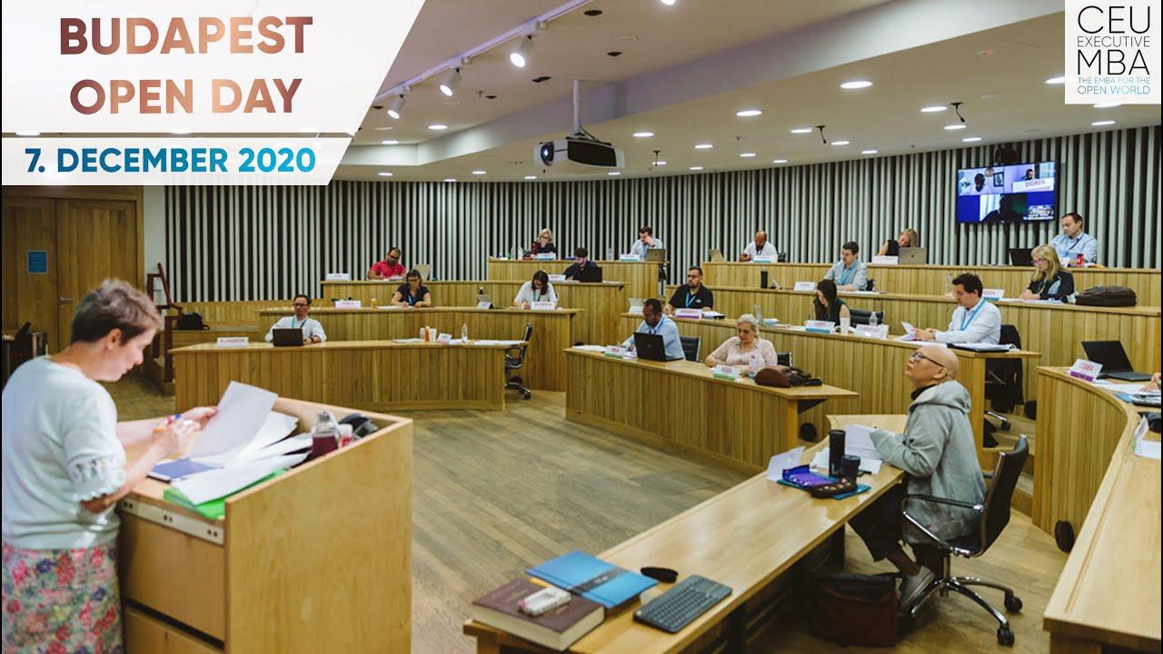 CEU Executive MBA:  Budapest Open Day – 7. December, 2020
