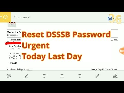 Reset Password Urgent Check your email ID Delhi Subordinate Staff Selection Board