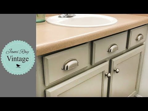 Bathroom Makeover Part 1 | Painting the Cabinets