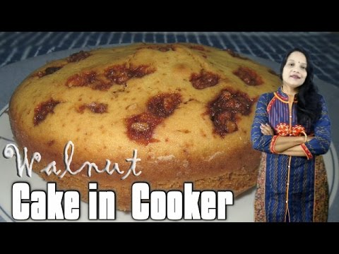 Walnut cooker Cake (in Hindi with English subs) | Eggless Walnut cooker cake