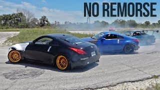 Destroying My 350z On The First Day...