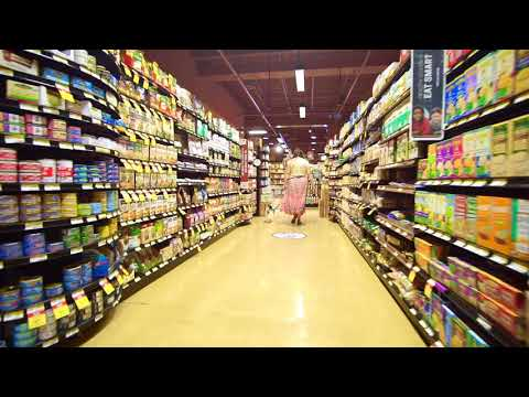 Heel and pace change training at grocery store