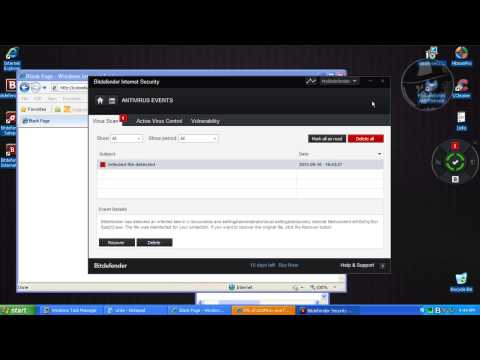 BitDefender Internet Security 2014 (Modified settings) - Test with more links