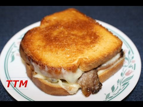 Grilled Havarti Cheese Roast Beef and Tomato Sandwich in the Toaster Oven