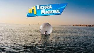 Jugando A Fortnite En Medio Del Mar!! (burbuja Inflable) | Nil Ojeda