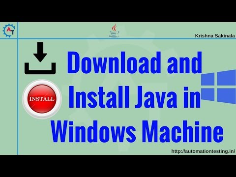 How to download and install Java JDK in Windows 10 (set JAVA_HOME Path)