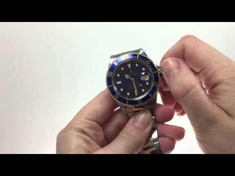 How to Set the Time & Date for the Rolex Submariner Date / Sea-Dweller / Deepsea