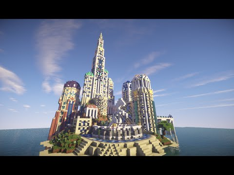 Minecraft Atlantis Castle Build Timelapse (The lost Kingdom)