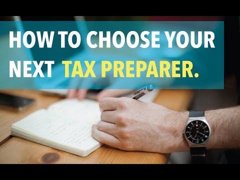 How to Choose You Next Tax Preparer