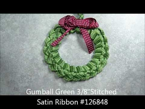 Ribbon Wreath Ornament Tutorial