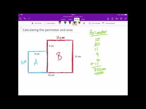 Calculating the area and perimeter of composite shapes