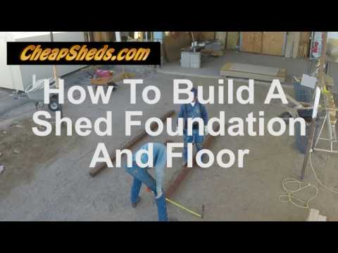 How To Build A Shed Floor & Foundation