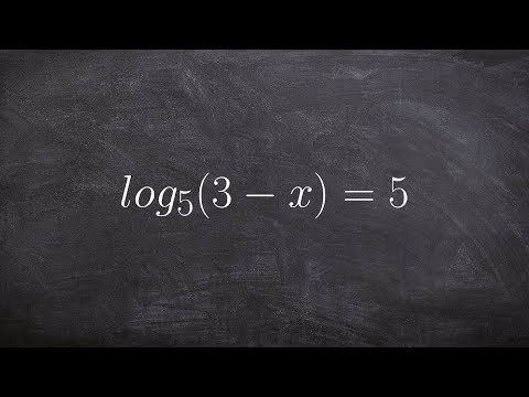 Convert an equation to exponential form to solve