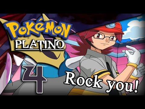 Pokémon Platino EP.4 Primer gimnasio ¡¡Rock You!!