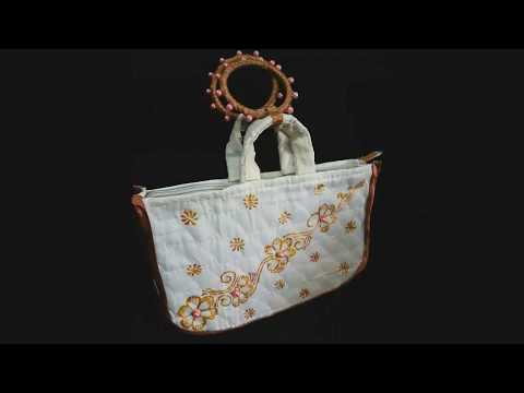 Grocery bag. D I Y craft ideas. Recycling into stylish bag or purse