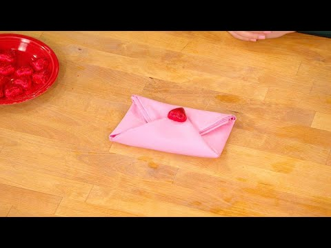 How to Turn a Napkin Into An Envelope For Your Valentine