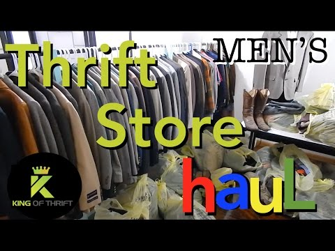 THRIFT STORE HAUL Men 2017 SELL Clothes on eBay MAKE MONEY THRIFTING