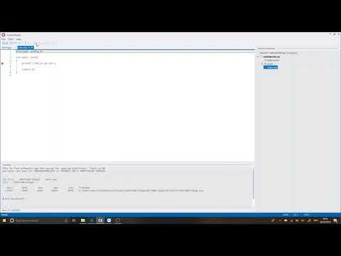 Avalon Studio - Creating a Console C/C++ Application