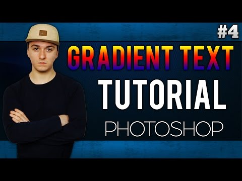 How To Add Gradient To Your Text EASILY! - Adobe Photoshop CC - Tutorial #4