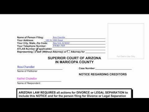 How-to Divorce in Arizona, B8: Notice Regarding Creditors