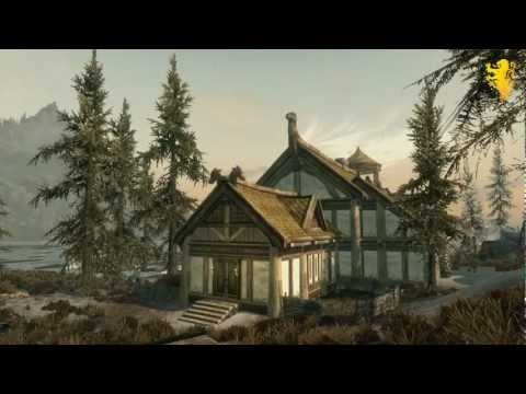 Skyrim Hearthfire DLC Trailer - Hearthfire Gameplay - Build your own house & adopt children!