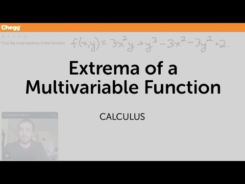 Extrema of a multivariable function   Calculus   Chegg Tutors