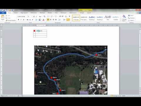 Creating a Map Using Word - inserting orientation and legend