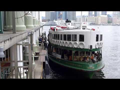 hong kong star ferry ride - day & night