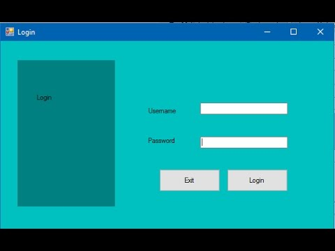 How to Create Login Form in C# with Database in Visual Studio?[With Source Code]
