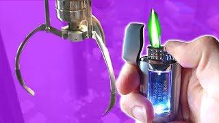 CLAW MACHINE: WON A GREEN FLAME LIGHTER!!