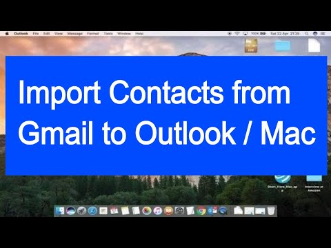 Import Gmail Contacts Outlook (Mac)