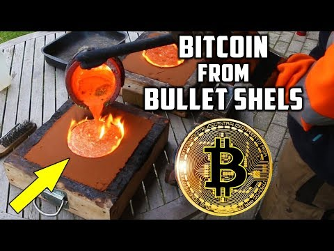 Casting Brass Bitcoin from Bullet Shells