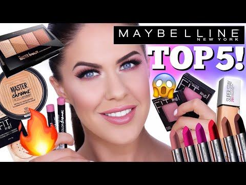 TOP 5 MAYBELLINE MUST HAVES!! BEST MAYBELLINE MAKEUP!!