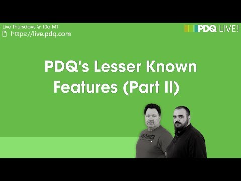 PDQ Live! : PDQ's Lesser Known Features (Part II)