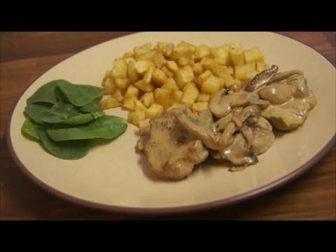 pork tenderloin in a white wine  sauce - Lombo de porco champignon