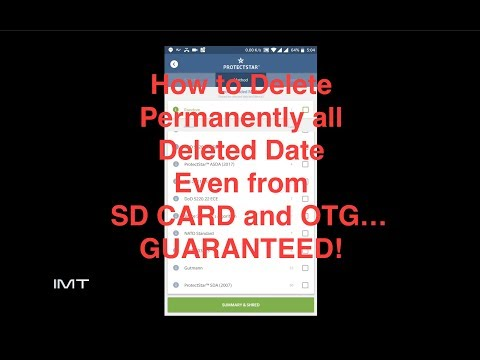 How to Delete Permanently all Deleted Data, Even from SD CARD and OTG…  GUARANTEED!