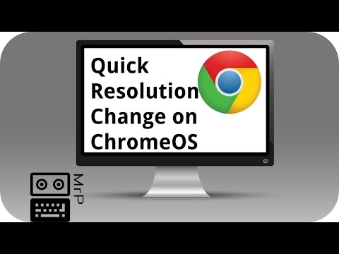 Change resolution on Chromebook