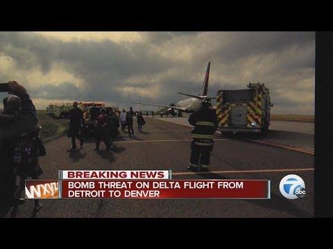 Bomb threat on Delta flight from Detroit to Denver