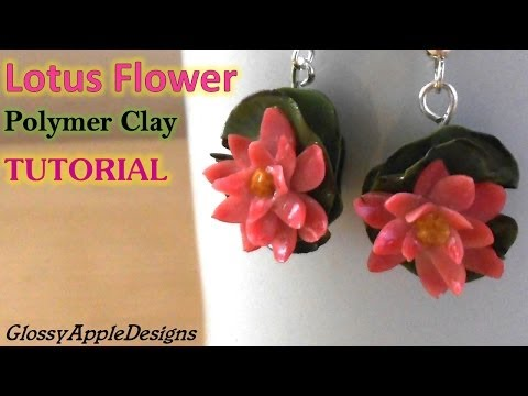 Lotus Flower Earrings/Charms - Polymer Clay Tutorial || Maive Ferrando