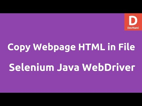 Write pagesource HTML into file Selenium Java