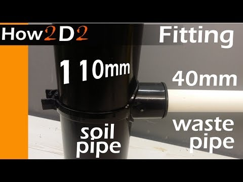 40 mm to 110 mm pipe How to fit waste pipe to soil pipe Boss strap adapter