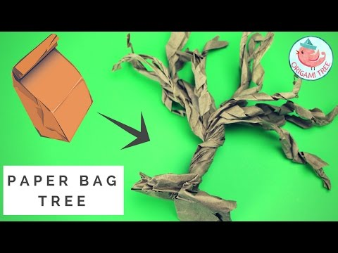 Paper Bag Tree - How to Make a Paper Tree From a Brown Lunch Bag! Easy Paper Lunch Bag Craft