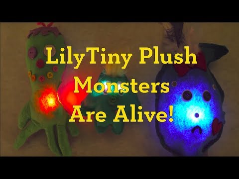 LilyTiny Plush Monsters Are Alive!