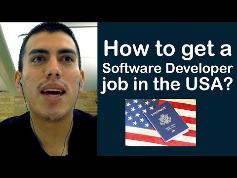 How to get a software developer job in the USA?