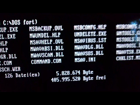Old MS DOS PC Start Up