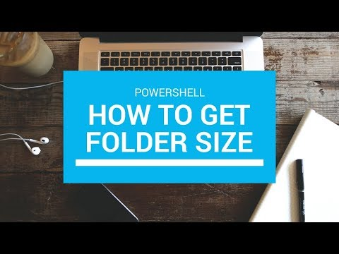 Powershell Get Folder size In One Line