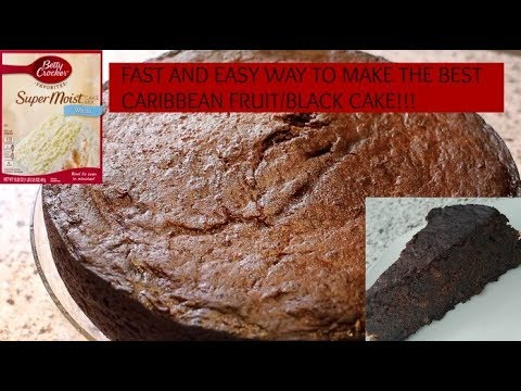 FAST AND EASY WAY TO MAKE THE BEST CARIBBEAN FRUIT BLACK CAKE!
