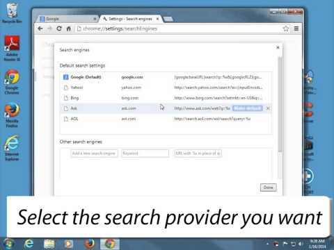 How to change the default search in Chrome